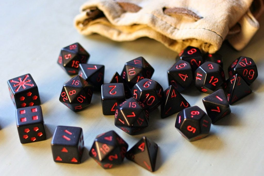 DNDND Rainbow Edge 7 Pieces Metal Dice Set DND Polyhedarl Heavy D/&D Dice Set with Metal Tin for Dungeons and Dragons and Role Playing Game