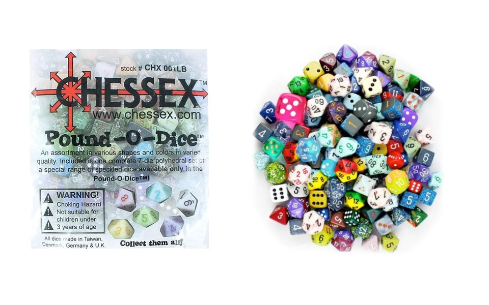 Chessex pound of dice review